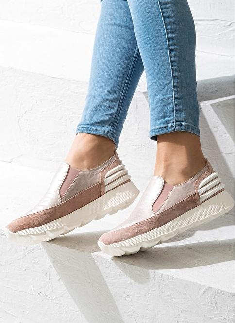 Elle Deri Ayakkabı Bej